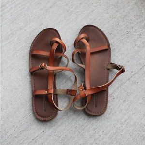 Target leather sandals